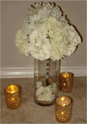 Centerpieces With White Silk Flowers