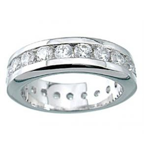 New 925 Sterling Silver Cz Eternity Band Ring