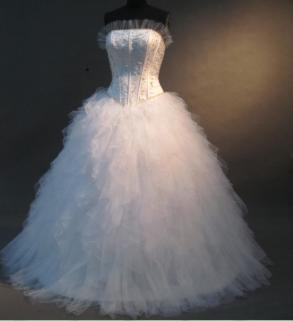 White One / W1 - Lovely Wedding Ball Gown #rmsw13
