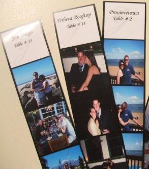 Custom Photo Strip 150 Escort Cards And 15 Double Sided Tented Table Names