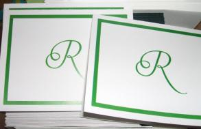 50 Custom Personalized Monogrammed Thank You Cards, Totally Customizable