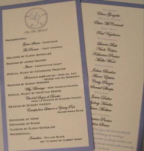 150 Double Sided Tea Length Wedding Programs- Your Colors Listing Stats