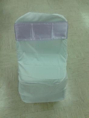 White Folding Chair Cover Flat