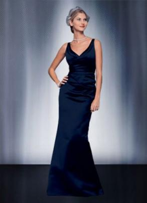Bill Levkoff 526 Long Navy Dress