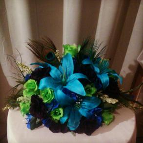 Peacock Centerpiece Table Centerpiece Bravobride