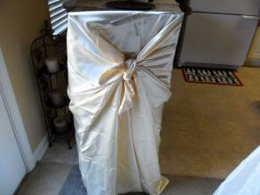 131 Ivory Satin Universal Chair Covers