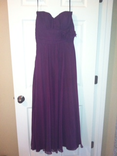 Jim Hjelm Occasions Violet Silk Chiffon Bridesmaid Dress (spring 2012 Collection)