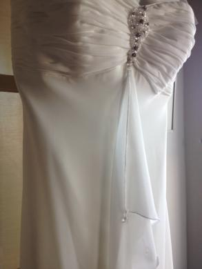 Strapless Wedding Dress Size 6 Beaded Chiffon