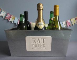 Wedding Gift - Eat Drink And Be Married - Large Champagne Tub