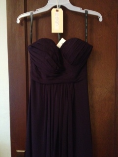 Bill Levkoff - Sweetheart Eggplant (deep Purple) Bridesmaid Dress