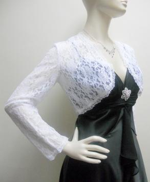 Elegant White Lace Bolero Jacket