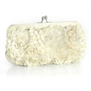 Floral Wedding Purse With Pearl Accents