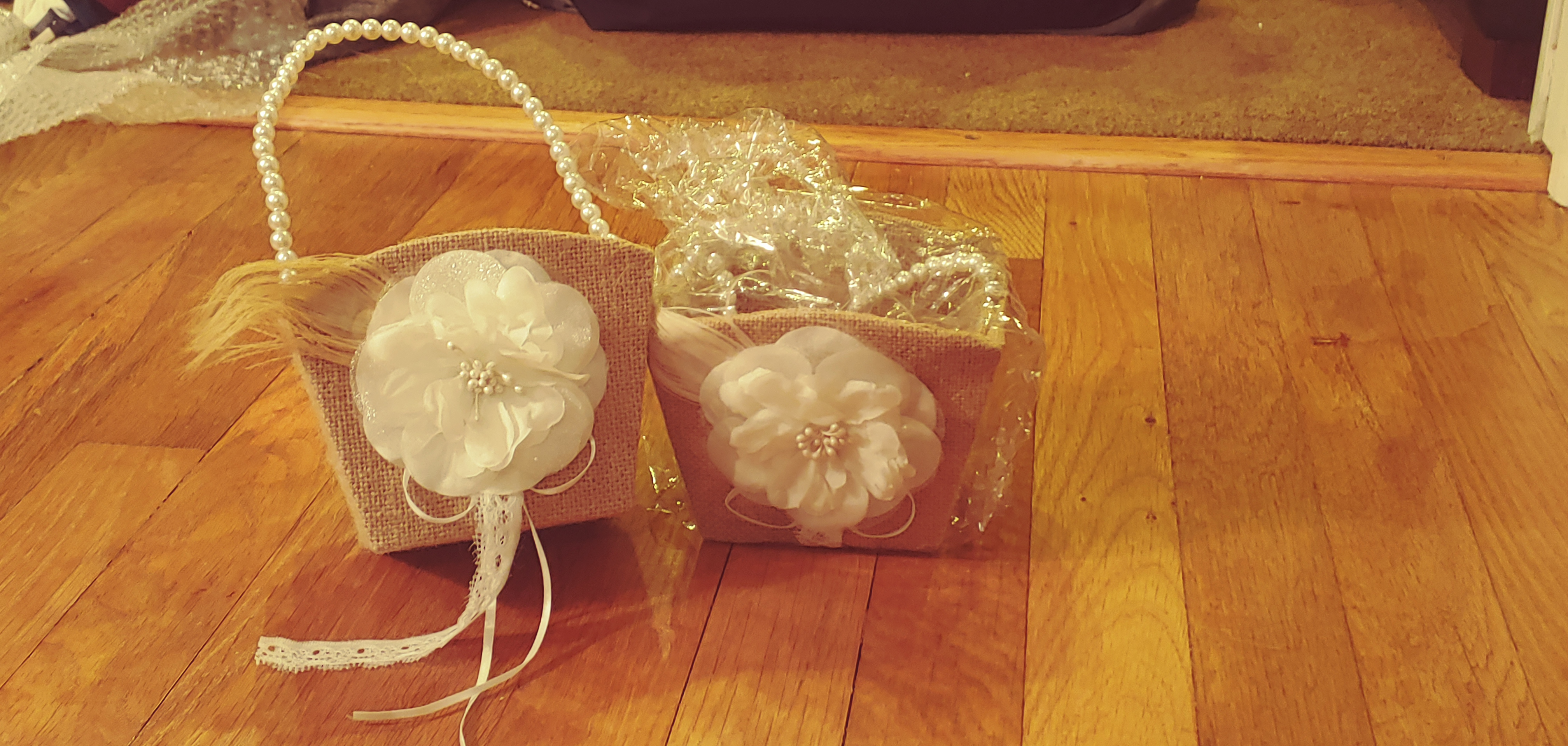 Flower Girl Baskets X2