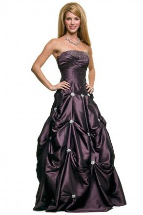 New Purple Maggie Sottero Inspired Strapless Pick Ups Wedding Dress ...