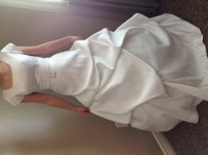 Eternity White Dress With Pink Sash