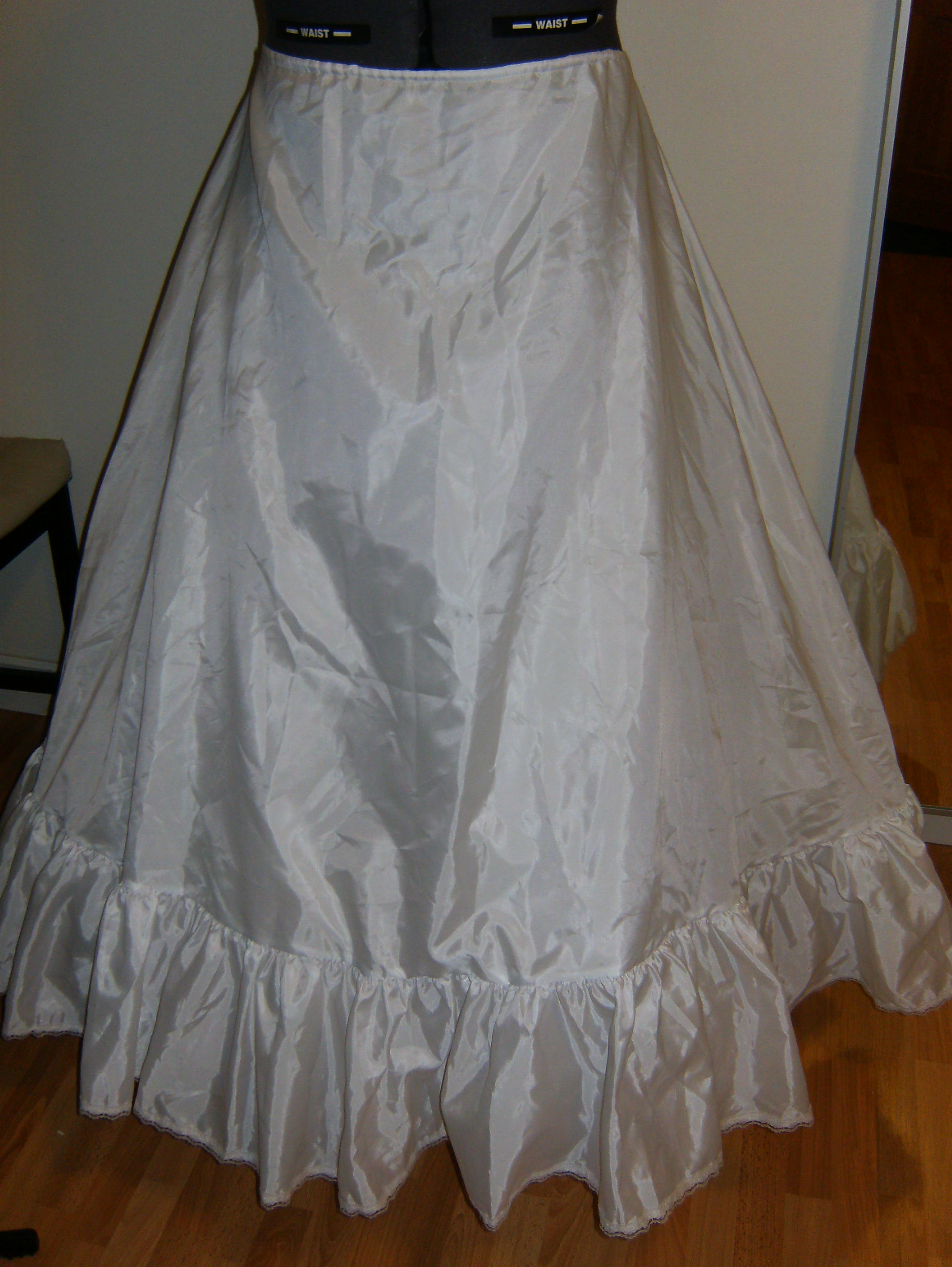 Crinoline drawstring slip wedding dress underslip for Used wedding dresses seattle