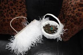 White Feather Purse