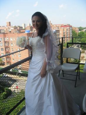 Beautiful Custom Made Wedding Dress With Swarovski Crystals