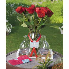 Engraved Red Rose Ceremony Set