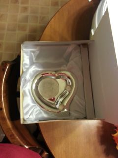 Silver Plated Heart Shaped Unity Candle