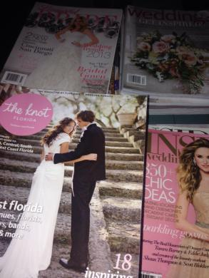 Wedding Magazines Including Brides, Martha Stewart, The Knot, Inside Weddings And More