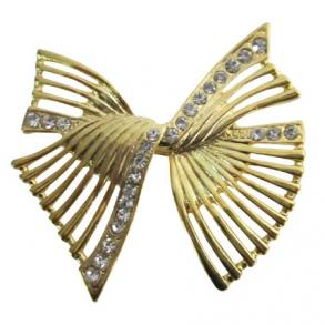 Shop The Latest Artistically Designed Sashes Golden Bow Dress Brooch