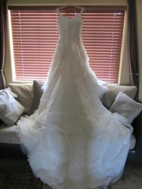 Anjolique Beaded Organza Wedding Gown