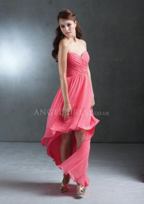 Amy Kuschel - A Line Chiffon High Low Sweetheart Bridesmaids Dresses