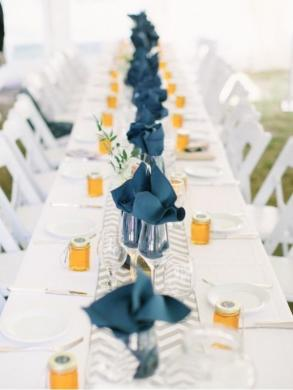 Grey Chevron Table Runners