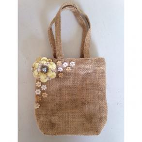 Burlap Money Dance Purse