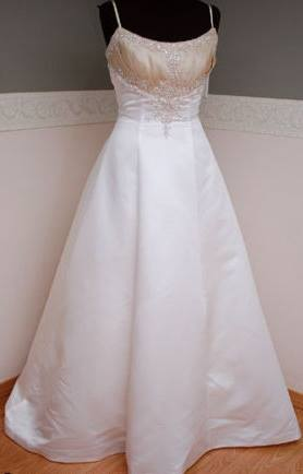 Brand New Mori Lee White Champagne Two-tone Wedding Dress Size 10