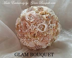 Rose Gold Brooch Bouquet