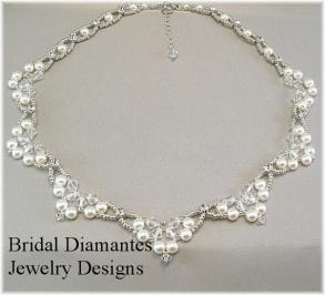 Swarovski Crystal, Rhinestone And Pearl Necklace