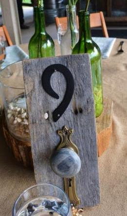 Wedding Table Number Centerpieces Barnwood Doorknobs Wooden Vintage - Lot Of 12 - W Easels