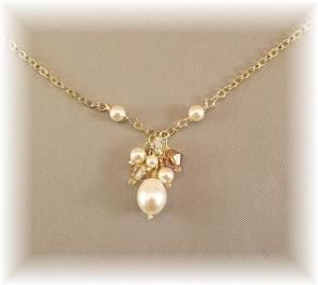 Honey Golden Blend Cluster Necklace