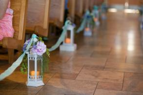 12 Lanterns With Faux Florals And Battery Votives