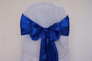 Royal Blue Satin Chair Sashes