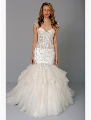 Pnina Tornai Sweetheart Mermaid Gown In Silk Organza