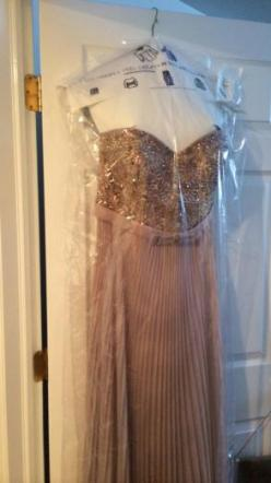 Champagne Dress With Beading