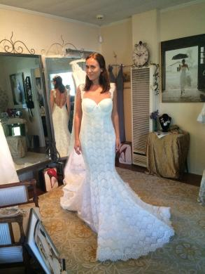 Pnina Tornai Sweetheart Mermaid Gown In Lace