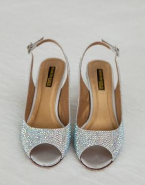 Heels And Flats With Crystals All Over