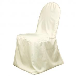 Banquet Chair Covers, White Polyester