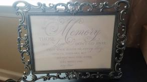 Gift, Card, And Memory Table Signs