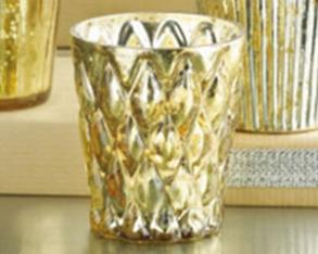 Gold Glass Votive/tealight Holder