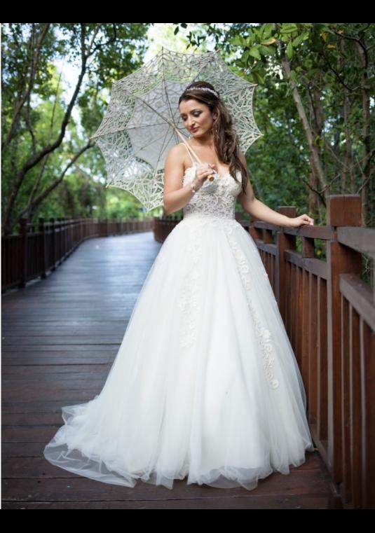 Berta Wedding Dress With Pearls