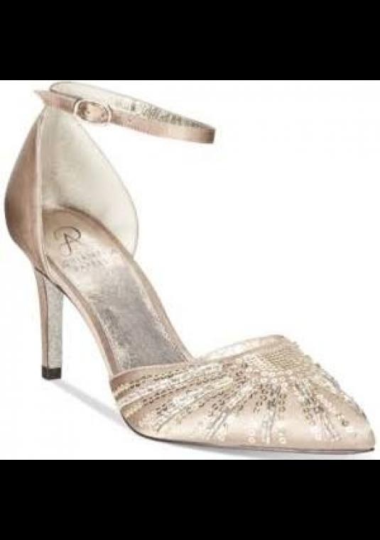 Adrianna Papell Hollis Gold Beaded Pumps 8.5
