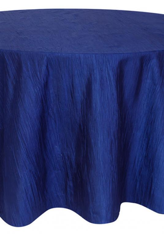 (20) Navy Blue Crinkle Taffeta Tablecloths