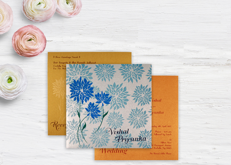 New Designs Of Floral Theme Wedding Cards – A2zweddingcards