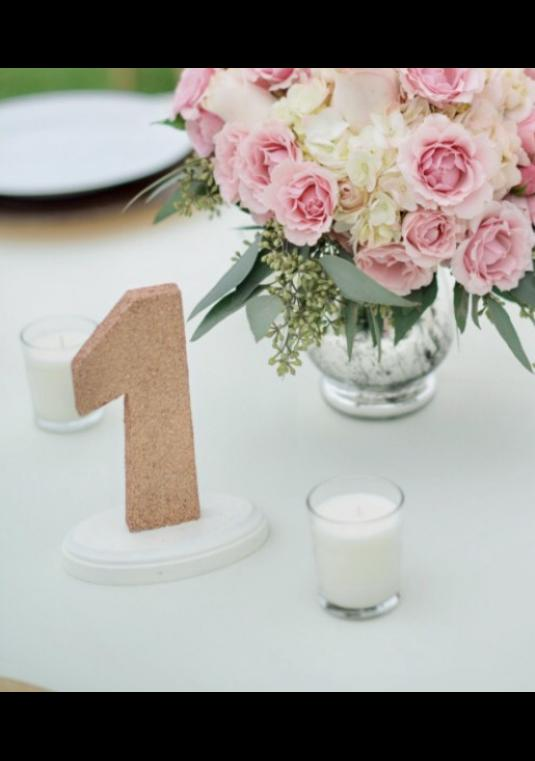 Table Numbers 1-6