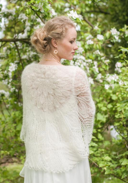 Wedding Mohair Wrap, Lace Shawl